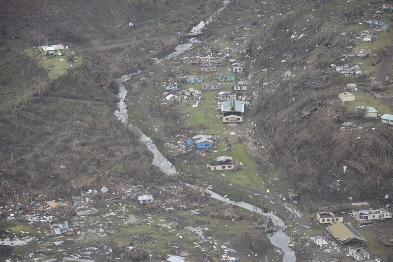 Arial View of Devastation. PHOTO: NZ Defence Force