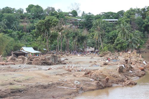 Koa Valley settlement that was swept away by the flash flood on the 3rd of April 2014 (Anglican Alliance)