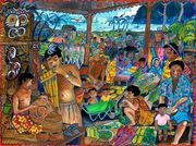 "Artwork Sale for Missions - ""Memories of Lae Market"""