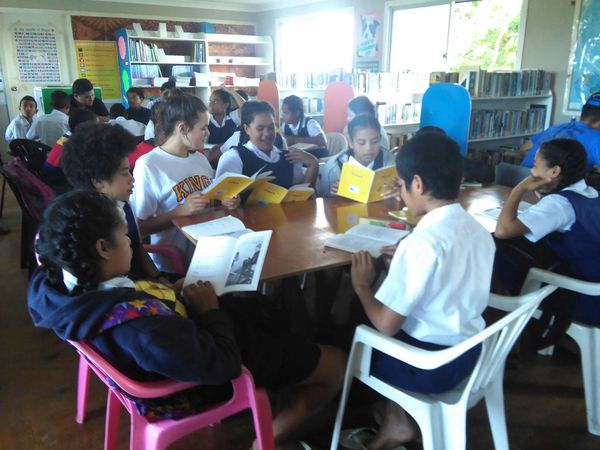 Volunteering at St Andrew's High School, Tonga